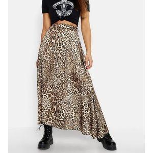 Midi Leopard Print Skirt Boohoo